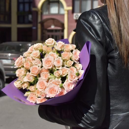 Моно кустовых роз «Cream»