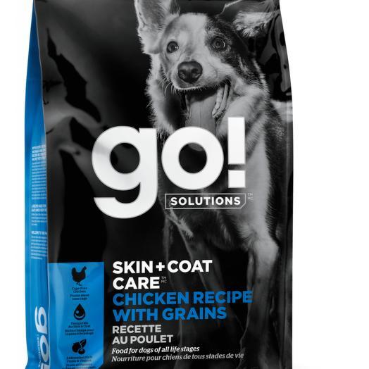 GO! беззерновой корм для щенков и собак с цельной курицей, фруктами и овощами 1,59 кг