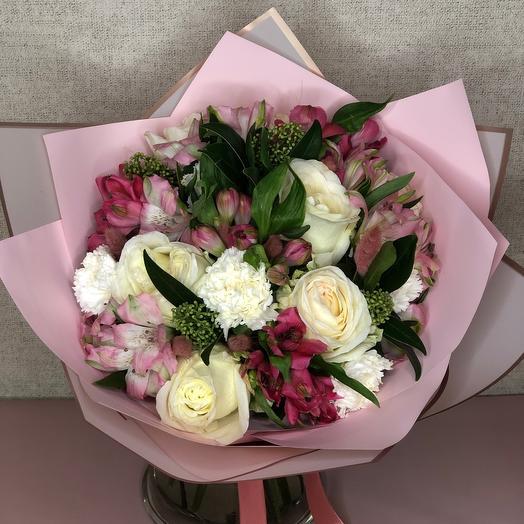 Букет «Светлый» с розами