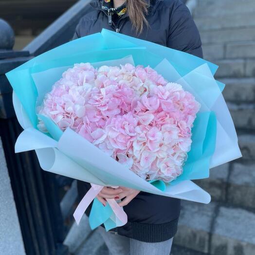 Букет Гортензии Розовые