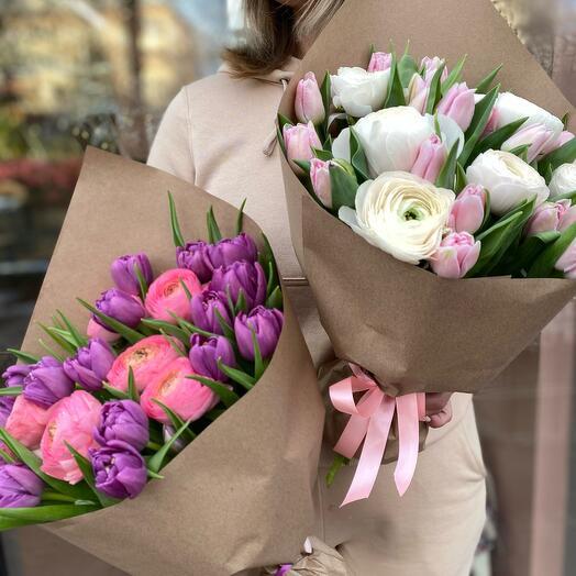 Дуо Тюльпаны и ранункулюсы
