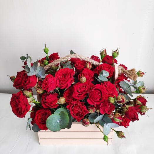 Роза и эвкалипт