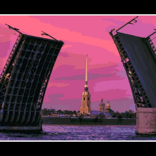Картина по номерам Биржевой мост