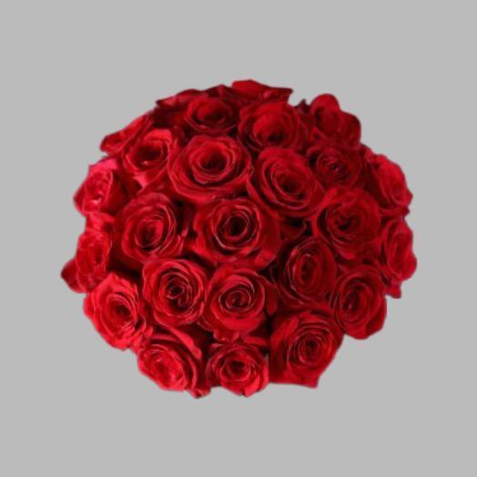 Букет из красных эквадорских роз 70 см