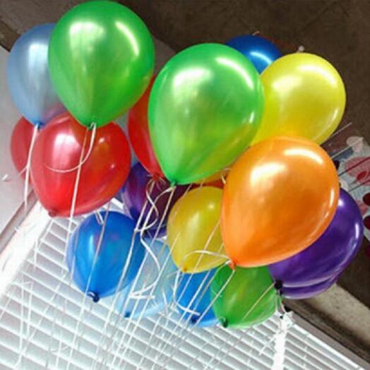 19 разноцветных шаров
