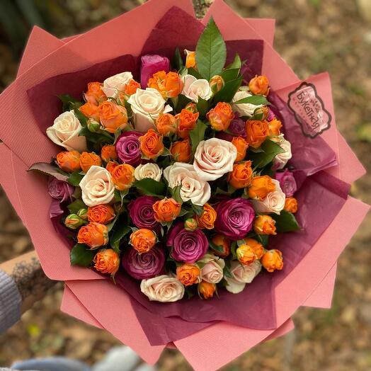 Букет из роз «Осенний микс»