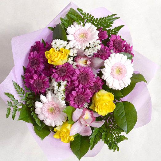 Колоритный и по настоящему яркий летний букет: букеты цветов на заказ Flowwow