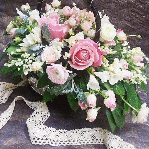 Корзина  Прованс: букеты цветов на заказ Flowwow