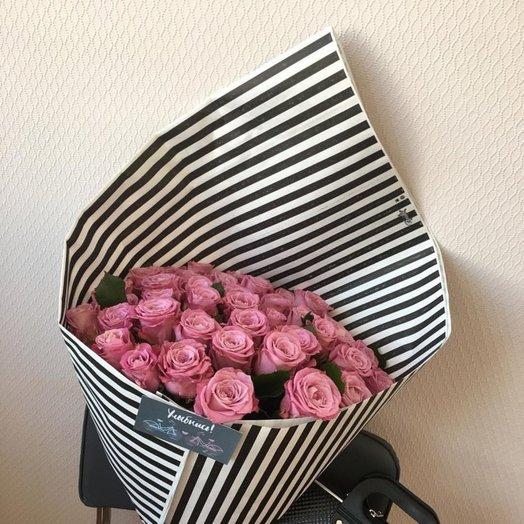 Монобукет из роз 55: букеты цветов на заказ Flowwow