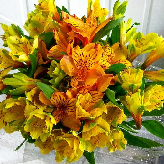Букет из 7 желтых альстромерий: букеты цветов на заказ Flowwow