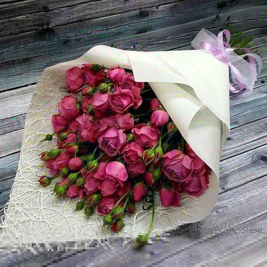 Букет из пионовидной розы Мисти Баблс