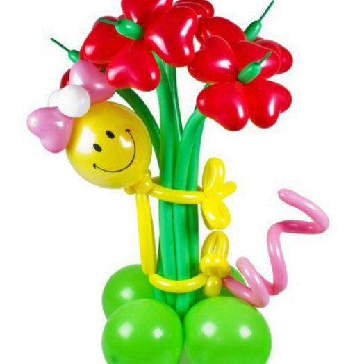 Букет цветов со смешной девочкой: букеты цветов на заказ Flowwow