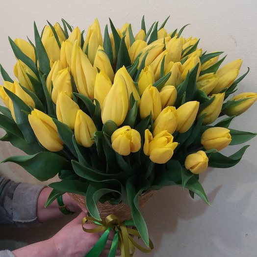 Букет из 49 тюльпана: букеты цветов на заказ Flowwow