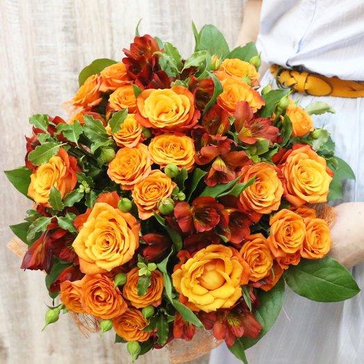 Оранжевое небо, оранжевое море...: букеты цветов на заказ Flowwow