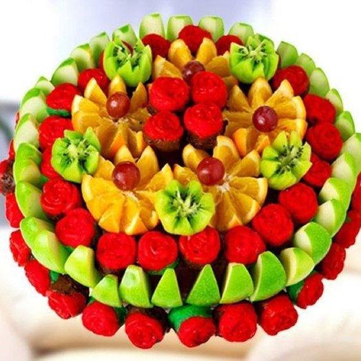 Фруктовый корзина ГРАНД: букеты цветов на заказ Flowwow