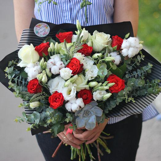 Букет Контраст : букеты цветов на заказ Flowwow