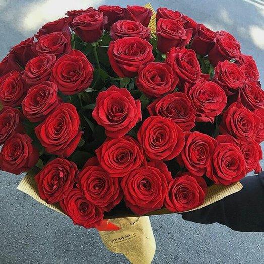 Классика из  51 розы: букеты цветов на заказ Flowwow