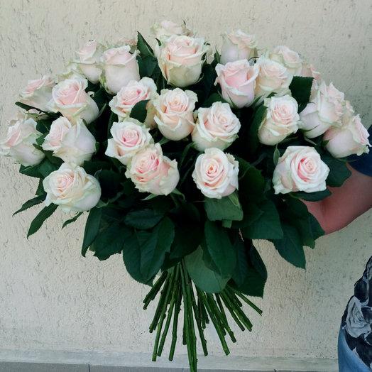 Букет из 45 белых роз 80 см: букеты цветов на заказ Flowwow