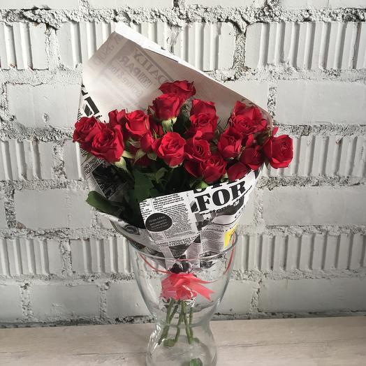 Кустовые розы 9: букеты цветов на заказ Flowwow