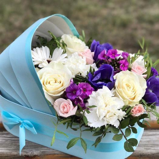 Букет на выписку мальчика: букеты цветов на заказ Flowwow