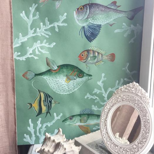 Картина Рыбы: букеты цветов на заказ Flowwow