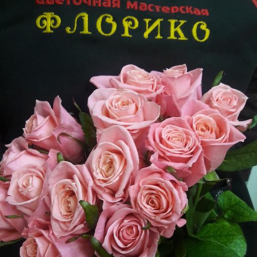 Розовая роза 15: букеты цветов на заказ Flowwow