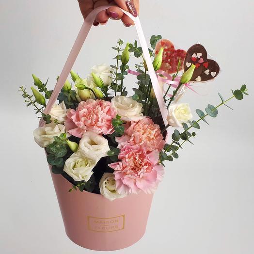 Два сердца: букеты цветов на заказ Flowwow