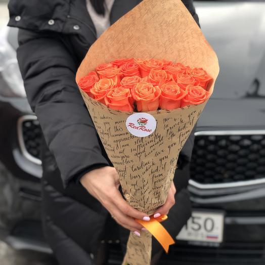 Букет из 19 роз «Вау»: букеты цветов на заказ Flowwow