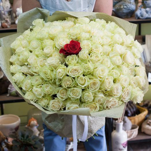 """Букет из роз """"Самой любимой"""": букеты цветов на заказ Flowwow"""