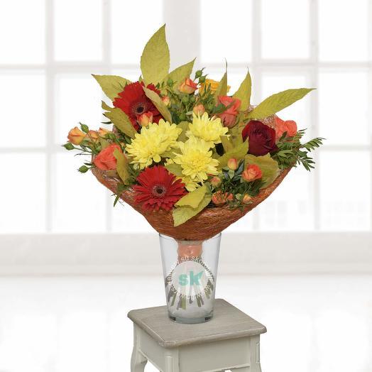 Осенний роман: букеты цветов на заказ Flowwow