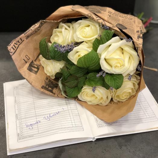 Стильные Розы с лавандой