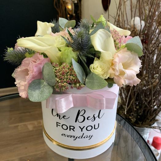 Коробка для лучшей: букеты цветов на заказ Flowwow