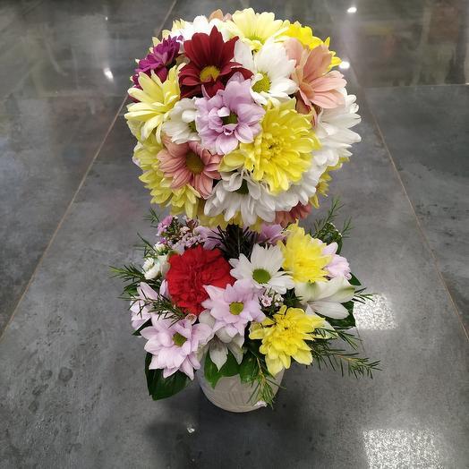 """Композиция """"Дерево 🌳 счастья"""": букеты цветов на заказ Flowwow"""