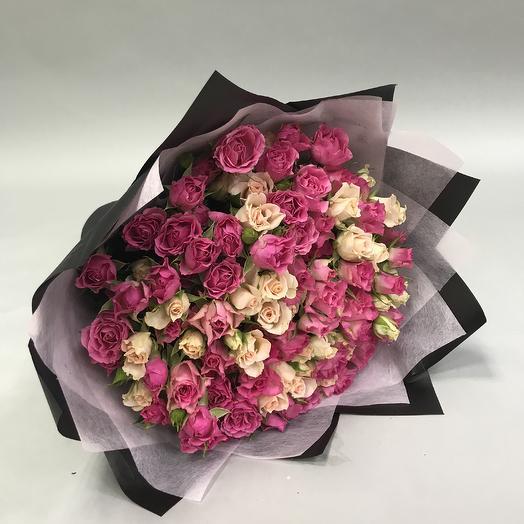 Букет кустовых роз микс: букеты цветов на заказ Flowwow
