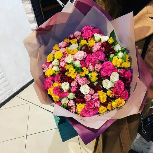 Кустовая Роза 51 шт: букеты цветов на заказ Flowwow