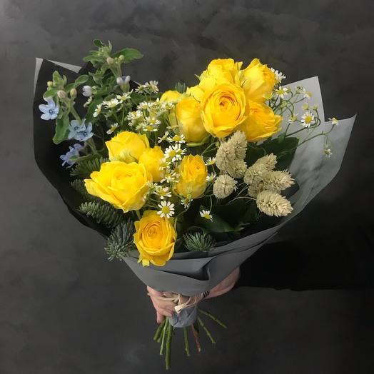 """Букет """"Зимнее солнце"""": букеты цветов на заказ Flowwow"""