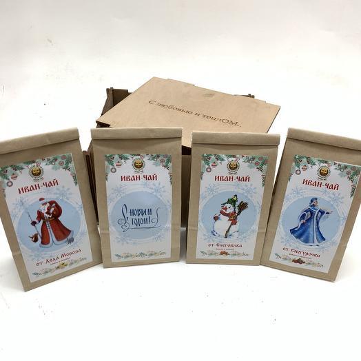 Новогодняя коллекция Иван-чая в деревянной коробочке