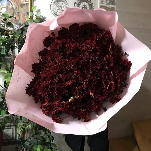 Хризантема красная: букеты цветов на заказ Flowwow