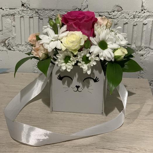 Цветочный кот: букеты цветов на заказ Flowwow