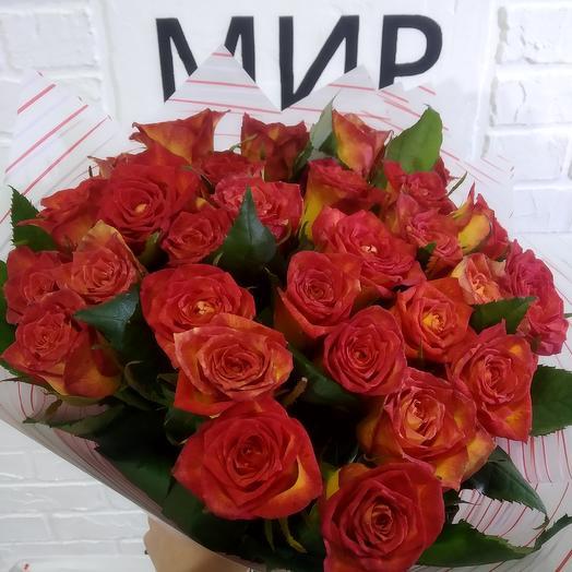 """""""Пламя"""": букеты цветов на заказ Flowwow"""