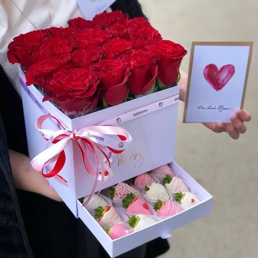 Шкатулка L: букеты цветов на заказ Flowwow