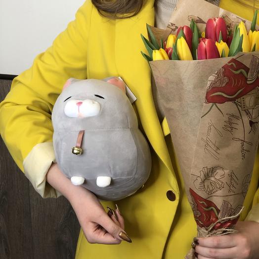 Букет микс из 7 тюльпанов: букеты цветов на заказ Flowwow