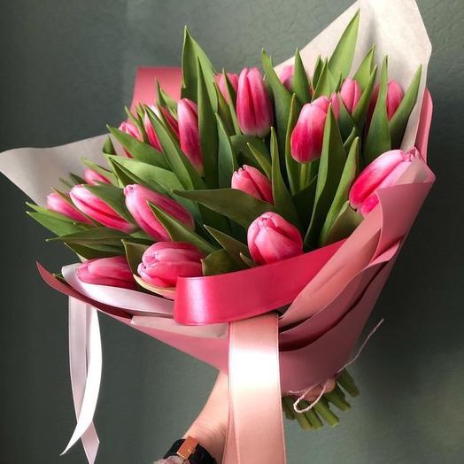 Букет тюльпанов 21 шт