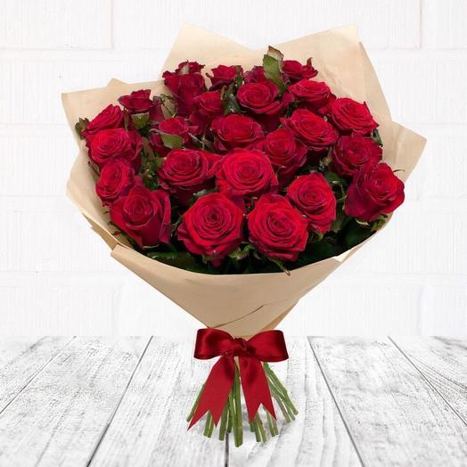 Розы Ред Наоми 60 см, 25 шт