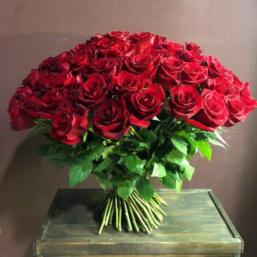101 роза 70 см Премиум