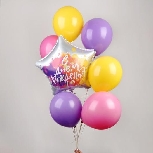 """Букет из шаров """"С Днём Рождения"""""""