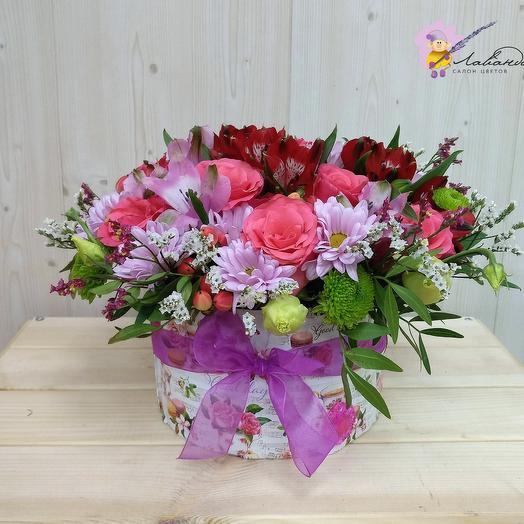 Коробочка с кенийской розой