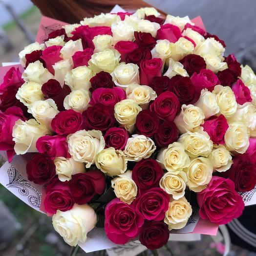 101 шикарная Роза 80 см 😻