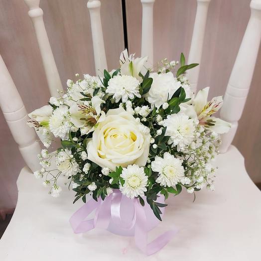 Цветы в коробке «Вдохновение»