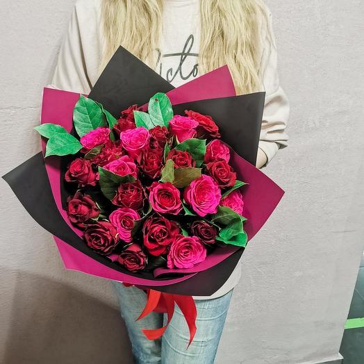 Дуо букет из роз